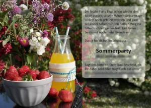 Beispiel-Flyer zu unserer letzten Sommerparty